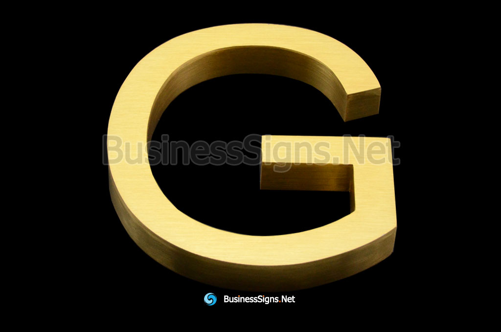 3D Brushed Gold Plated Business Signs