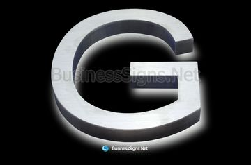3D LED Backlit Business Signs With Brushed Stainless Steel Letter Shell