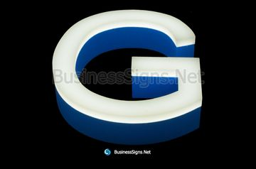 3D LED Front-lit Business Signs With Painted Stainless Steel Letter Shell And 20mm Thickness Acrylic front-panel