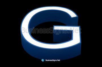 3D LED Front-lit Business Signs With Painted Stainless Steel Letter Shell And Face Return