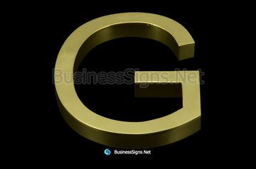 3D Mirror Polished Brass Business Signs
