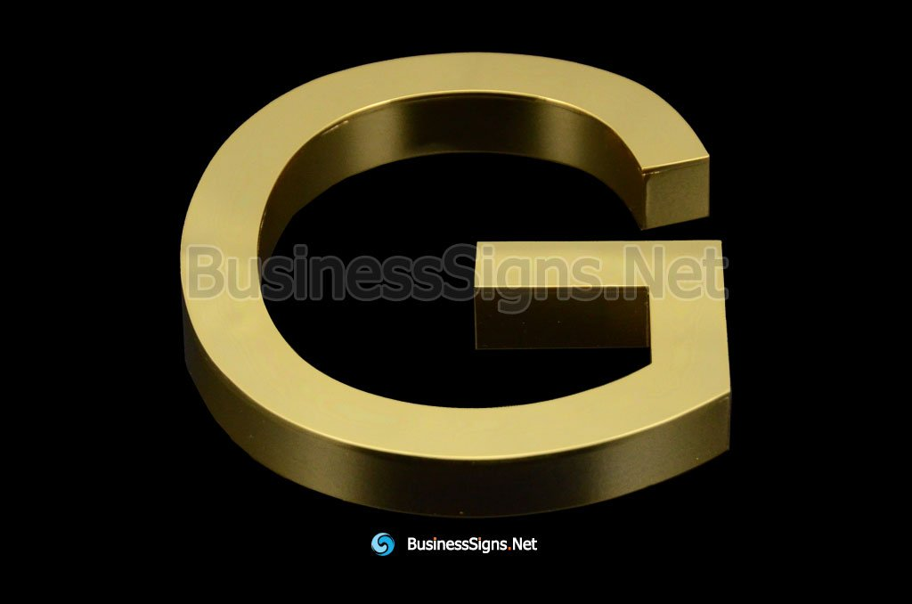 3D Mirror Polished Gold Plated Business Signs