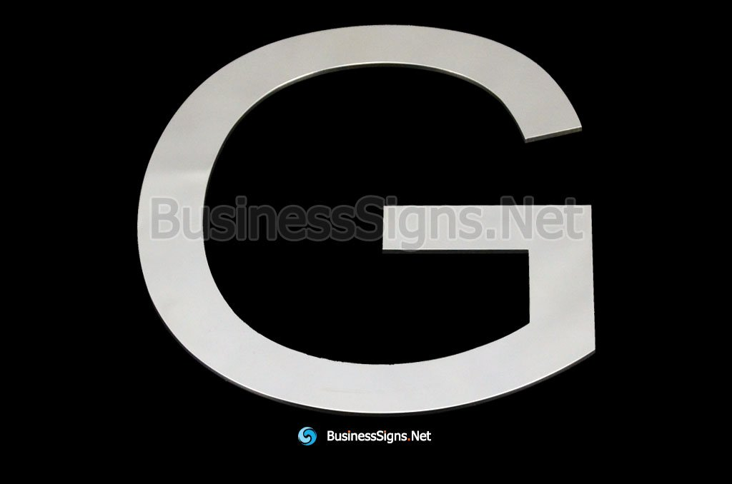 Laser Cutting 1mm Mirror Polished Stainless Steel Business Signs