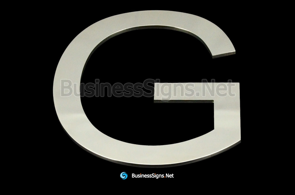 Laser Cutting 3mm Mirror Polished Stainless Steel Business Signs