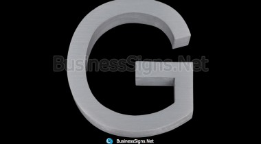 3D Brushed Aluminum Business Signs