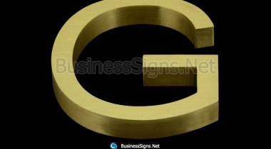 3D Brushed Brass Business Signs