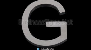 3D Brushed Stainless Steel Business Signs