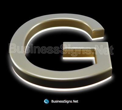 3D LED Backlit Business Signs With Painted CNC Engraved Acrylic Letter Shell And Visible Acrylic Back-panel