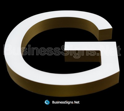 3D LED Front-lit Business Signs With CNC Engraved Acrylic Letter Shell And Painted Border