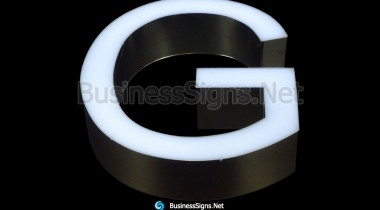 LED Front-lit Signs With Mirror Polished 304 Stainless Steel Letter Shell Promotion