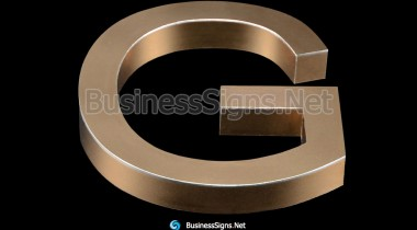 3D Mirror Polished Rose Gold Plated Business Signs