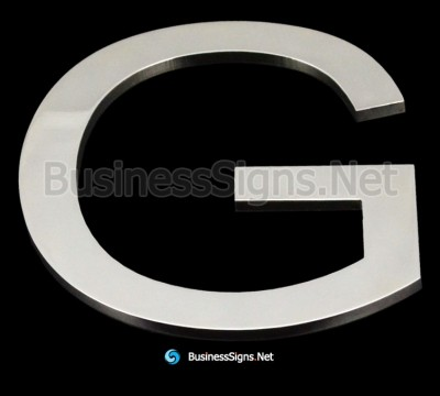 Laser Cutting 5mm Mirror Polished Stainless Steel Business Signs